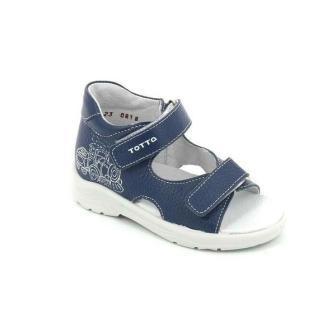 ТОТТА Туфли  открытые детские, М1144-кожанная подкладка, открытый носок; 822 (м1144-КП-822 лазурный/синий) (поступление 25.05.2020г.)  цена  1350руб.