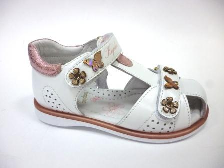 KAPIKA Туфли летние (белый-розовый) р.25-29  32567-1 (поступление 14.11.2019г.)  цена  2400руб.