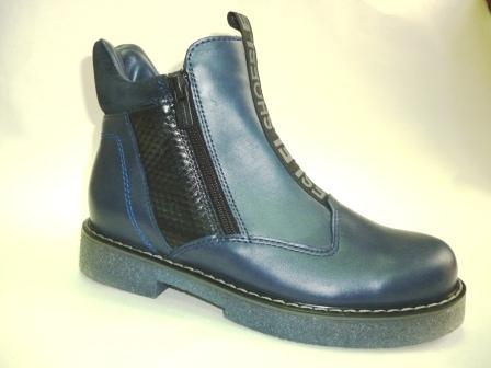 Лель м 4-1616 Ботинки школьные байка (темно-синий)  (поступление 29.02.2020г.)  цена  4050руб.