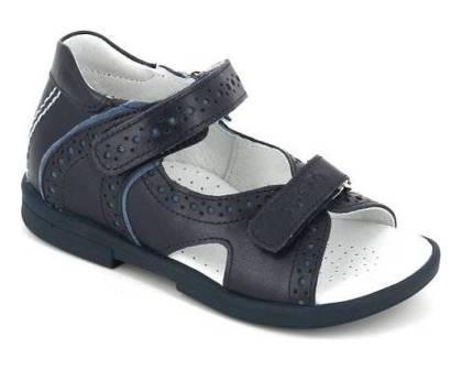 ТОТТА  Туфли открытые детские, 10216/2-кожанная подкладка, открытый носок  10216/2-КП-2,43 (синий/голубой) (поступление 06.05.2020г.)  цена  2300руб.