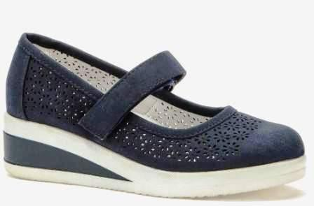 BETSY  988314/04-02 т.синий иск.нубук детские (для девочек) туфли (поступление 14.08.2020г.) цена 2150руб.