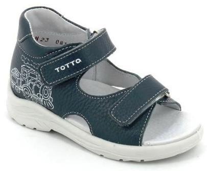 ТОТТА Туфли  открытые детские, М1144-кожанная подкладка, открытый носок; 802   (1144-802 (джинс) (поступление 15.10.2020г.) цена 1550руб.