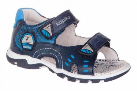 KAPIKA Туфли летние кожа (синий) р.25-29  32658-1 (поступление 07.12.2020г.) цена 2500руб.