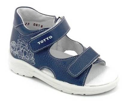 ТОТТА Туфли открытые детские, М1144-кожанная подкладка  1144-822 (лазурный синий) (поступление 12.03.2021г.) цена 1790руб.