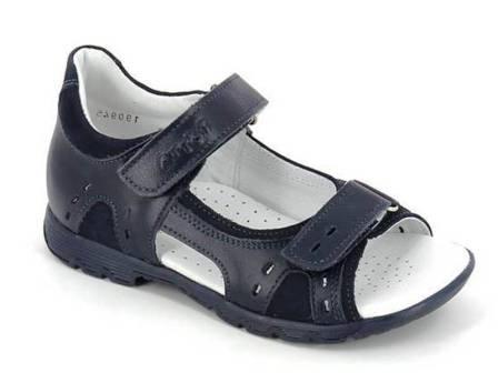 ТОТТА Туфли летние открытые школьные,  кожанная подкладка, арт.1151/1-2,12 (синий) (поступление 07.05.2021г.) цена 2700руб.