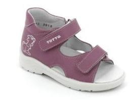 ТОТТА  Туфли  открытые малодетские, 11/4-кожанная подкладка, открытый носок  11/4-КП-800 (сирень) (поступление 06.05.2020г.)  цена  1180руб.