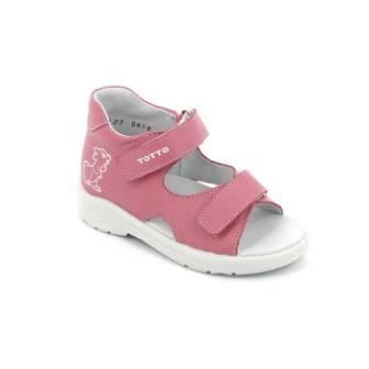 ТОТТА Туфли  открытые детские, М1144-кожанная подкладка, открытый носок; 857 (м1144-КП-857 пион) (поступление 25.05.2020г.)  цена  1350руб.