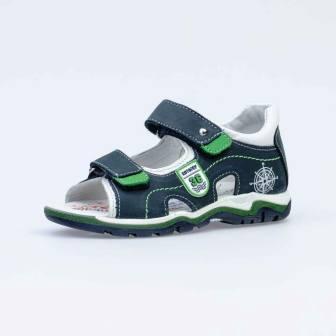 КОТОФЕЙ 522151-21 син-зел туфли летние дошкольно-школьные нат. кожа (поступление 21.04.2021г.) цена 2950руб.