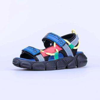КОТОФЕЙ 524077-11 син-чер туфли пляжные дошкольно-школьные комбинирован., р.30-35 (поступление 24.05.2021г.) цена 1850руб.