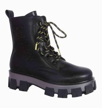 KAPIKA Ботинки (черный) р.36-40 артикул  54441ук-1 (поступление 06.09.2021г.) цена 3700руб.