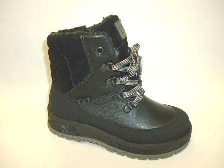 Лель Зима м 4-1525 Ботинки для млад.школьников нат.мех (черный)   (поступление 12.10.2019г.)  цена  4300руб.