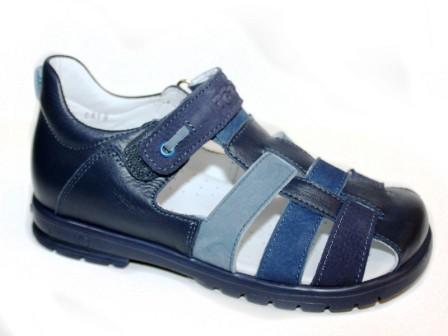 ТОТТА Туфли летние открытые школьные, М1153/1 кожанная подкладка 1153/1-2,13,12,43 (синий/джинс) (поступление 12.03.2021г.) цена 2700руб.