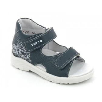 ТОТТА Туфли  открытые малодетские, 11/4-кожанная подкладка, открытый носок  11/4-КП - 802 (джинс) (поступление 06.05.2020г.)  цена  1180руб.