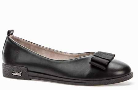 BETSY  908331/05-01 черный иск.кожа детские (для девочек) туфли (поступление 14.08.2020г.) цена 1450руб.