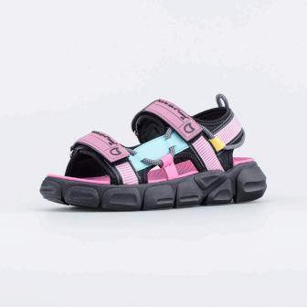 КОТОФЕЙ 524077-12 чер-роз туфли пляжные дошкольно-школьные комбинирован., р.30-35 (поступление 24.05.2021г.) цена 1850руб.