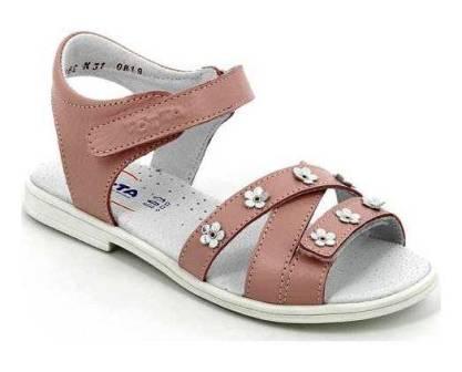 ТОТТА Туфли открытые детские,М1162/2, арт.162/2-717 (пудра) (поступление 07.05.2021г.) цена 1900руб.