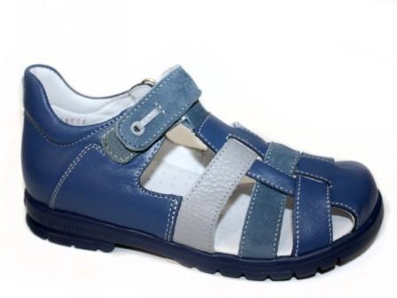 ТОТТА Туфли летние открытые детские, М1153 кожанная подкладка; 3,43,711  (м1153-3,43,711(джинс/голубой/сер) (поступление 25.05.2020г.)  цена  2300руб.