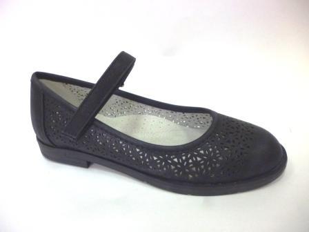 KEDDO 998329/01-04 черный детские (для девочек) туфли  (поступление 06.08.2019г.) цена  1590руб.