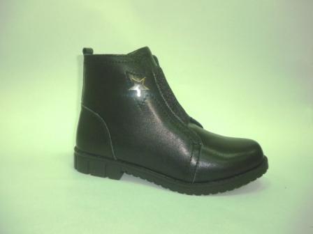 КОТОФЕЙ 752168-31 черный ботинки школьно-подростковые нат. кожа, 36-40  (поступление 11.09.2019г.)  цена  3250руб.