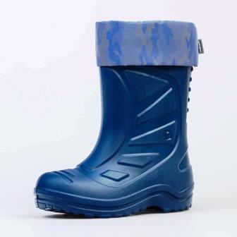 КОТОФЕЙ 665003-15 синий сапожки школьные ЭВА (поступление 01.04.2021г.) цена 1250руб.
