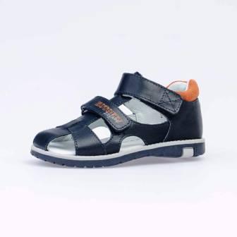 КОТОФЕЙ 422059-23 син-ора туфли летние дошкольные нат. кожа, (поступление 07.05.2021г.) цена 2850руб.