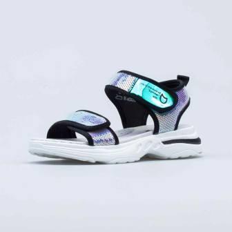 КОТОФЕЙ 621502-71 срб-чер туфли летние школьные текстиль, р.32-35 (поступление 24.05.2021г.) цена 2590руб.