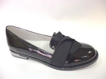 KEDDO  998329/06-01 черный детские (для девочек) туфли закрытые  (поступление 06.08.2019г.) цена 1590 руб.