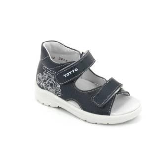 ТОТТА Туфли  открытые детские, М1144-кожанная подкладка, открытый носок; 1144-кп-812 (синий) (поступление 23.07.2020г.) цена 1500руб.