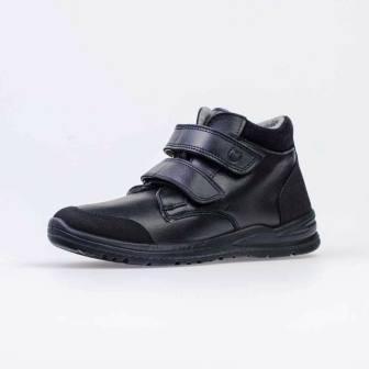 КОТОФЕЙ 652171-31 черный ботинки школьные Нат. кожа , 36-37,5 (поступление 05.03.2021г.) цена 3600руб.