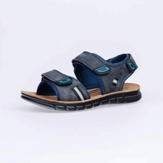 КОТОФЕЙ 522108-72 син-гол туфли летние дошкольно-школьные нат. кожа (поступление 07.05.2021г.) цена 2850руб.