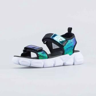 КОТОФЕЙ 724033-11 чер-цве туфли пляжные школьно-подростковые комбинирован., р.36-40 (поступление 24.05.2021г.) цена 2100руб.