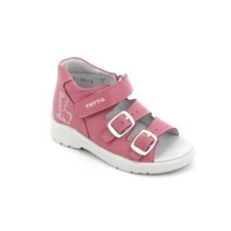 ТОТТА Туфли  открытые малодетские, М11/2-кожанная подкладка, открытый носок; 11/2-кп-857 (пион) (поступление 23.07.2020г.) цена 1300руб.