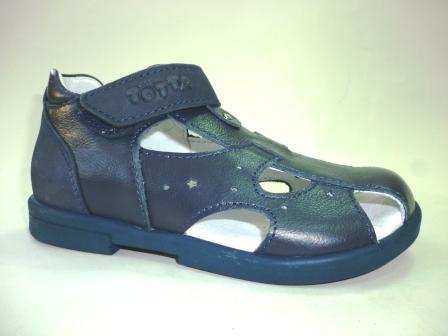 ТОТТО  Туфли открытые детские, М069-кожанная подкладка, закрытый носок; 12,2 (синий/синий)   (поступление 25.02.2020г.)  цена  2300руб.