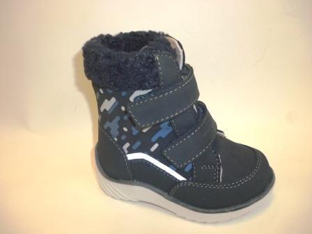 КОТОФЕЙ 152263-51 синий ботинки ясельно-малодетские нат. кожа, 21-24  (поступление 27.09.2019г.)  цена  3200руб.