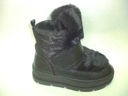 KEDDO Зима 998344/05-01 черный нейлон/иск.кожа детские (для девочек) ботинки  (поступление 08.10.2019г.)  цена  3050руб.