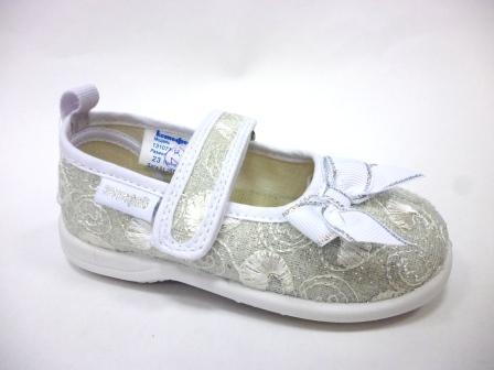 КОТОФЕЙ 131071-12 серебрист. туфли ясельно-малодетские текстиль, 20-26  (поступление 04.11.2019г.)  цена  800руб.