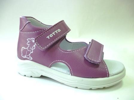 ТОТТО Туфли  открытые малодетские, М11/4-кожанная подкладка, открытый носок; 800 (сирень)  (поступление 25.02.2020г.)  цена  1180руб.