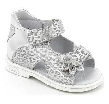 ТОТТА Туфли  открытые , ясельные , М021/1-Д-кожанная подкладка, открытый носок; 509,5022 (м021/1-Д-КП-509,5022 серебро)  (поступление 25.05.2020г.)  цена  2080руб.