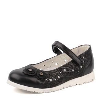 Shagovita Туфли для девочки черный наплак 20СМФ 29-31 Девочка  43186 черный  (поступление 31.07.2020г.) цена 2400руб.