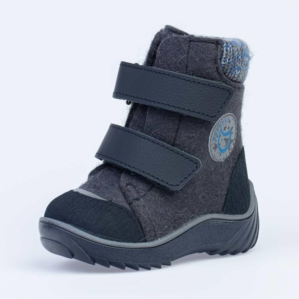 КОТОФЕЙ 157006-42 синий ботинки ясельно-малодетские войлок, 21-24 (поступление 14.10.2020г.) цена 2690руб.
