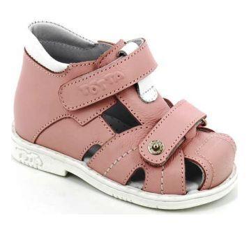 ТОТТА Туфли  открытые малодетские, М054/1-кожанная подкладка, закрытый носок; 7,99 (054/1-7,99 (пион/лиловый/белый) (поступление 15.10.2020г.) цена 2200руб.