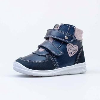 КОТОФЕЙ 152285-32 синий ботинки ясельно-малодетские Нат. кожа, 21-24 (поступление 05.03.2021г.) цена 2850руб.