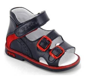 ТОТТА Туфли открытые малодетские, М0218/1-кожанная подкладка 0218/1-2,46 (синий/красный) (поступление 12.03.2021г.) цена 2350руб.