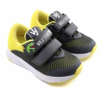 """П/ботинки детские TM""""INDIGO KIDS"""" размеры 24-28 артикул 92-006D/10 (серый/желтый) (поступление 05.04.2021г.) цена 1850руб."""
