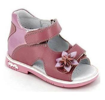 ТОТТА Туфли открытые ,малодетские девичьи, М021/2-Д-кожанная подкладка, арт. 021/2-217,537 (ирис/розовый)  (поступление 07.05.2021г.) цена 2350руб.