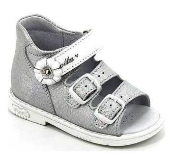 ТОТТА Туфли открытые малодетские, М020/1-Д-кожанная подкладка,  020/1-5032,99 (хамелеон/белый) (поступление 01.06.2021г.) цена 2350руб.