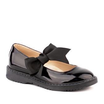 Shagovita 43274 Туфли для девочки 21СМФ черный наплак (30-31) (поступление 21.07.2021г.) цена 3200руб.