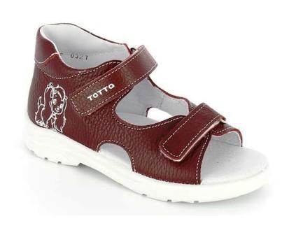 ТОТТА Туфли открытые малодетские, М11/4-кожанная подкладка,  11/4-716 (бордо) (поступление 28.07.2021г.) цена 1650руб.