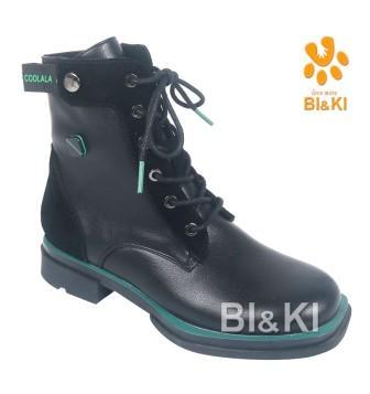 BI&KI Артикул A-B00895-B Ботинки р.33-38 Чёрный (поступление 01.09.2021г.) цена 3050руб.