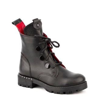 Shagovita 65194 Б Ботинки для девочки 21СМФ р.32-37 черный (поступление 02.09.2021г.) цена 4600руб.